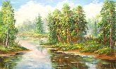 """Картина на холсте """"Красивый лес"""""""