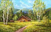 """Картина на холсте """"Охотничий домик"""""""