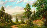 """Картина на холсте """"Горная река"""""""