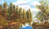 "Картина на холсте ""Сосновый лес"""