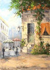 """Картина на холсте """"Уличное кафе Парижа"""""""