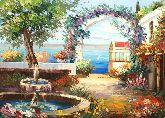 "Картина на холсте ""Красивый фонтан"""
