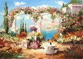 """Картина на холсте """"Цветочная арка"""""""