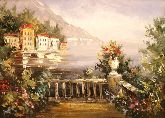 """Картина на холсте """"Море в горах"""""""