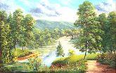 "Картина на холсте ""Альпийский лес"""