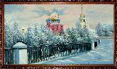 Храм у моста, зима