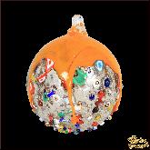 Ёлочный шар из Италии Весёлый апельсин