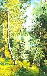 """Картина на холсте """"Подмосковный лес"""""""