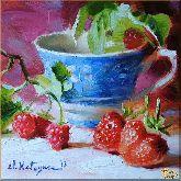 Ягоды, картина, Модерн натюрморт №10