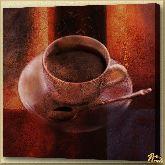 Черный кофе, картина, Модерн натюрморт №14