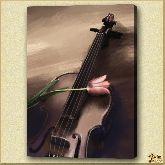Скрипка и цветок, картина, Модерн натюрморт №19