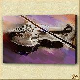 Грустная скрипка, картина, Модерн натюрморт №21