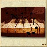 Белые клавиша, картина, Модерн натюрморт №22