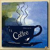 Чашка горячего кофе, картина, Модерн натюрморт №26