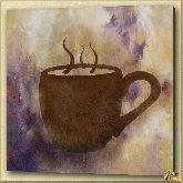 Чай в чашке, картина, Модерн натюрморт №27