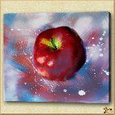Красное яблоко, картина, Модерн натюрморт №33