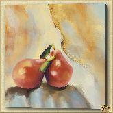 Две спелые груши, картина, Модерн натюрморт №34