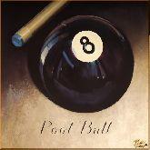 Бильярдный мяч, картина, Модерн натюрморт №43