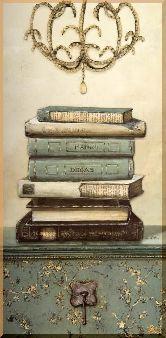 Книги, картина, Модерн натюрморт №48