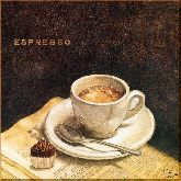 Эспрессо с молоком, картина, Модерн натюрморт №60