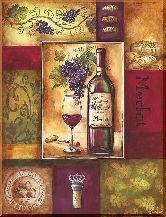 Вино мерлот, картина, Модерн натюрморт №61