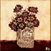 Цветы в коробке, картина, Модерн натюрморт №65