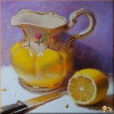 Кувшин и лимон, картина, Модерн натюрморт №71
