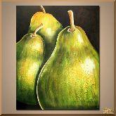 Зеленые груши, картина, Модерн натюрморт №72