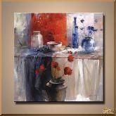 Шелк и цветы, картина, Модерн натюрморт №75