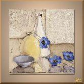Синие маки, картина, Модерн натюрморт №76
