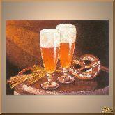 Бокалы с пивом, картина, Модерн натюрморт №80