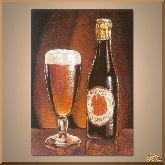 Пиво в бокале, картина, Модерн натюрморт №82