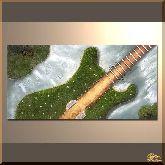 Зеленая гитара, картина, Модерн натюрморт №98