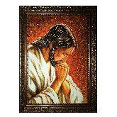 Иисус молится икона из янтаря