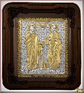 Икона св. Апостолов Петра и Павла из серебра