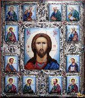 Икона Иисус Христос с апостолами