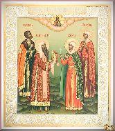 Икона святым Роману, Алексию, Татьяне, Софии