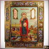 Икона с бриллиантами Святая Ольга