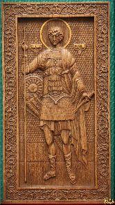 Икона Георгий Победоносец (ростовой)