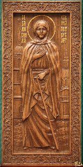 Икона Святая Блаженная Ксения (ростовая)