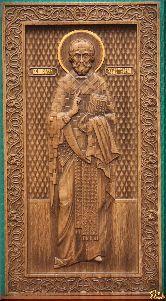 Икона Святой Николай Чудотворец (ростовой)