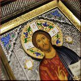 Икона Господь Вседержитель (с эмалями)