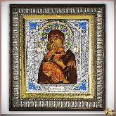 Икона Пресвятая Богородица Владимирская (с эмалями)