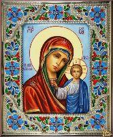 Икона эксклюзивная Казанской Божией Матери