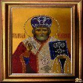 Икона со стразами Николай Чудотворец
