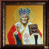 Икона из страз Николай Чудотворец