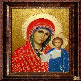 Икона из страз Казанская Божья Матерь