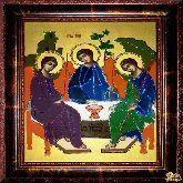 Икона Троица из страз