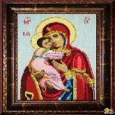 Икона Владимирская из страз
