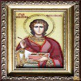 Икона из страз Святой Пантелеймон